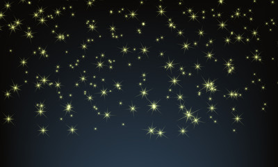 Vector Night sky with full of stars. Twinkle twinkle little star for your background.