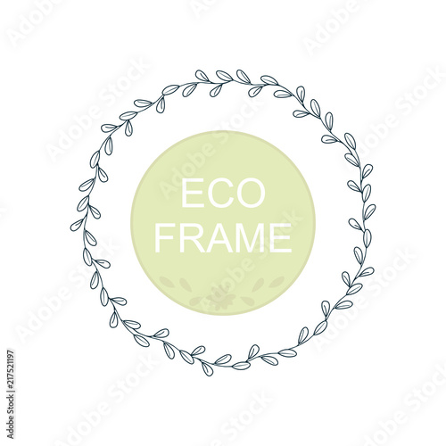 Eco frame round wreath for greeting card design wedding eco frame round wreath for greeting card design wedding invitations logos business m4hsunfo
