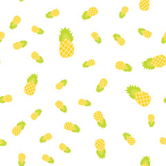 The Seamless pattern. Tropical ornament yellow pineapples