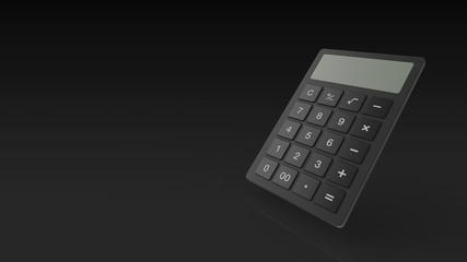 電卓 黒 パース 左コピースペース