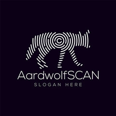 Aardwolf Scan Technology Logo vector Element. Animal Technology Logo Template