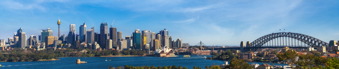 Panorama of Sydney city