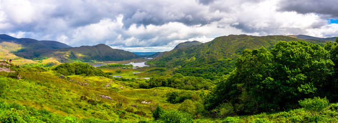 Landscape of Lady's view, Killarney National Park in Ireland.