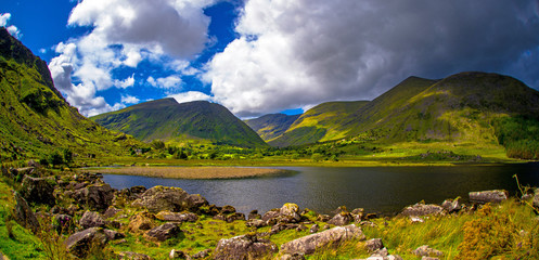 Black Valley in Co. Kerry, Ireland. Ring of Kerry road tour near Killarney.
