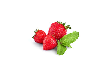 Fresh Berries Isolated on the White Background. Sweet Strawberry