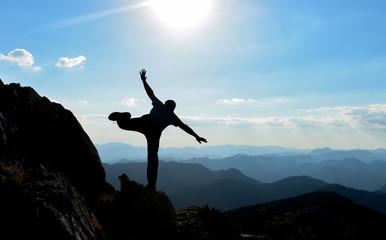 crazy, happy, joyful and dynamic climber