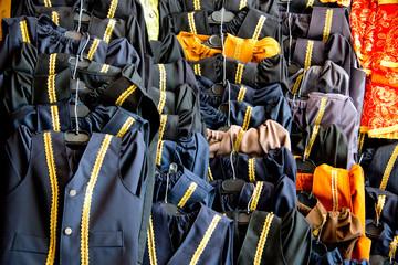 vests for sünnet circumcision celebration at stall in sanliurfa bazar
