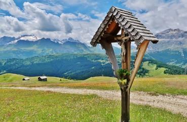 Wegkreuz, Pralongià, Dolomiten, Südtirol