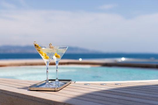 martini au jacuzzi