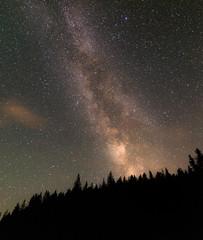 Milky way in Jasper National Park