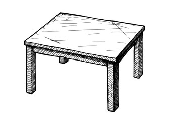 illustration of table