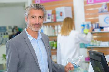 pharmacy administrator posing