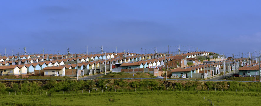 Residential set for low income workers. Brazil