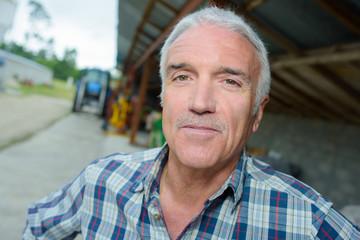 Portrait of man on farm