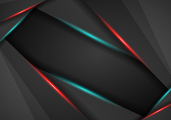 Abstract background, metallic red and blue light frame layout, abstract metal with mesh, modern tech design template background. vector illustration.