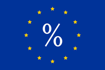 Percent and the European Union as a symbol