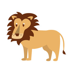 Lion wild animal vector illustration graphic design