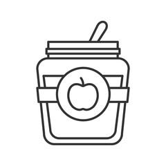 Apple jam jar linear icon