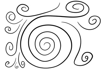 Lines swirl