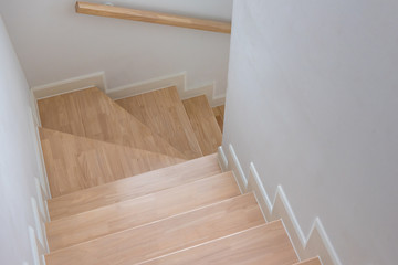 wooden staircase interior decoration