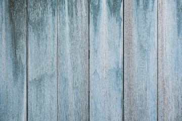 Old blue hardwood background.