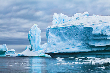 Keuken foto achterwand Antarctica iceberg landscape nature of Antarctica, climate change concept background, melting ice due to global warming