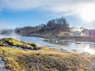Geothermal of hot spring pool in Iceland