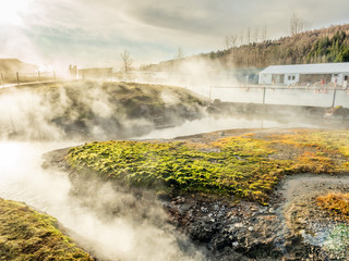 Geothermal of hot spring pool in Iceland
