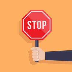 Stop sign flat design