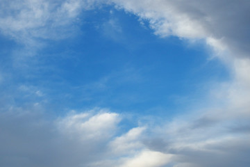 Tuinposter Aan het plafond 青空と雲