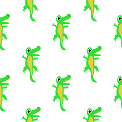 Cute Children's Illustration Wild Animals Crocodile, Alligator