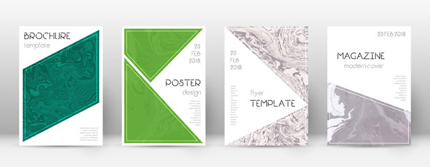 Abstract cover. Actual design template. Suminagashi marble triangle poster. Actual trendy abstract c