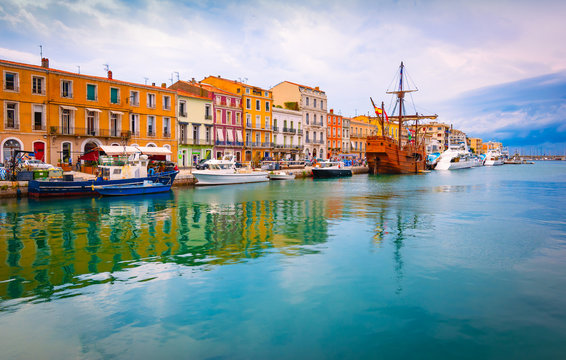 Sete, Venice of Languedoc, southern France.