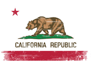 California republic scratched flag