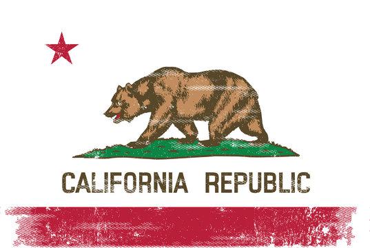 California republic scratched flag