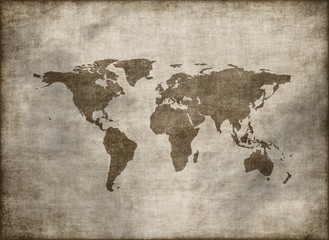 classic vintage old grunge world map