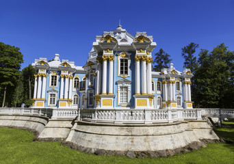 Hermitage Pavilion in Catherine Park at Tsarskoye Selo (Pushkin), St. Petersburg, Russia