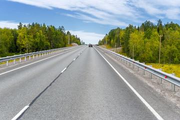 Highway beyond the horizon. Russia, Karelia