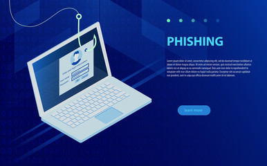 Login into account and fishing hook. Internet phishing, hacked login and password.