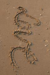 love writing on sand