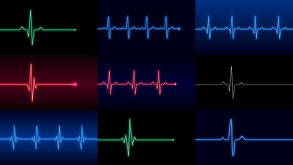 Set of heartbeat lines