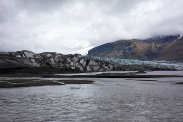 Der Vatnajökull Gletscher in Island