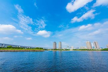 お台場の海岸線 Scenery of  Odaiba ,Tokyo