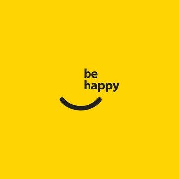 Smile be Happy Vector Template Design Illustration