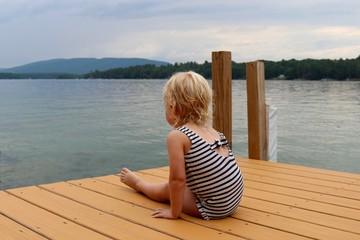 Little Girl on Dock