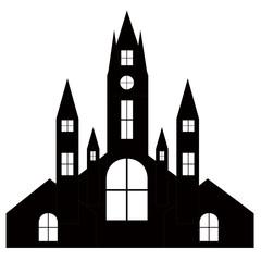 ハロウィン 城 教会 シルエット