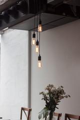 Decorative light bulbs in modern style