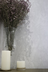 Minimal style interior with dried flower