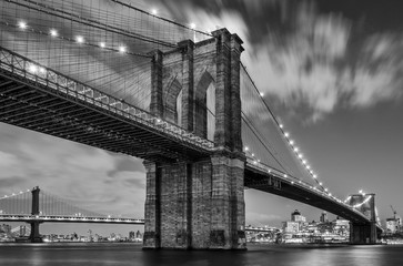 Printed roller blinds Brooklyn Bridge Brooklyn Bridge and Clouds, Study 1