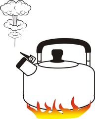 Cook boiling water in the cattle